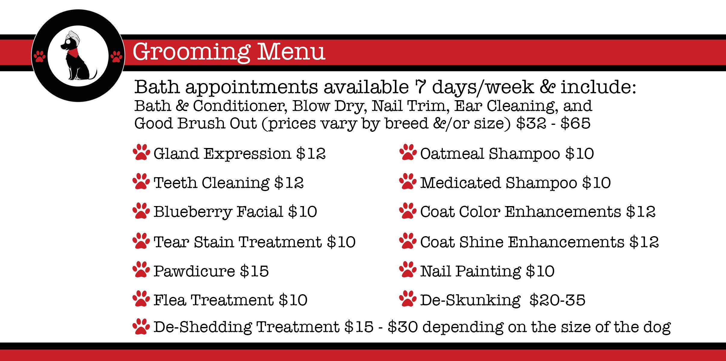 grooming-menu